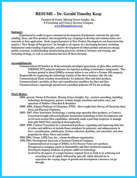 Sle Business Resume by Sle Resume For Business Owner 28 Images Business Owner
