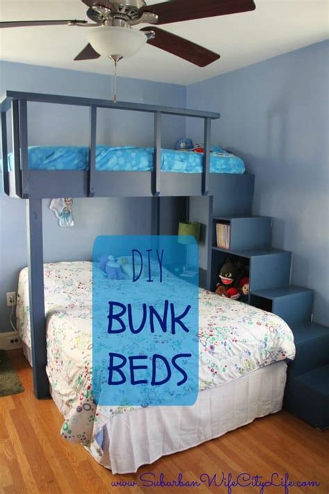 diy bunk beds suburban wife city life