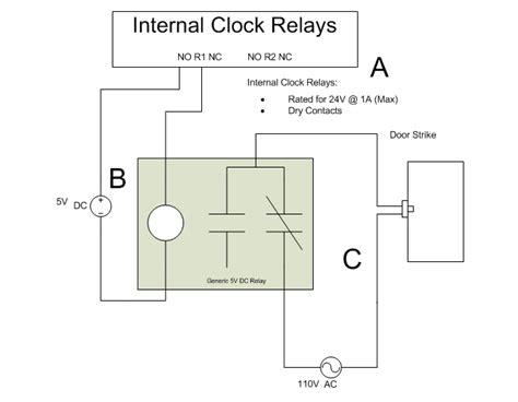 electric strike wiring diagram power to garage diagrams