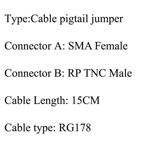 Kabel Pigtail Tnc To Tnc 5x sma to rp tnc buchse pigtail kabel rg178 6