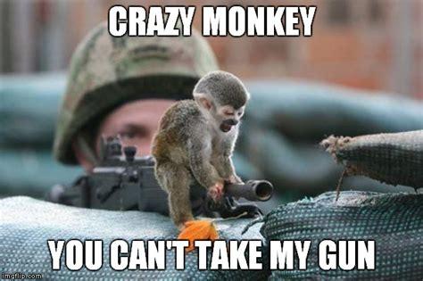 Monkey Meme Generator - gun monkey imgflip
