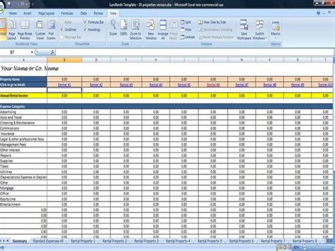 Property Management Spreadsheet by 25 Property Tracking Expense And Rental Income Tracking