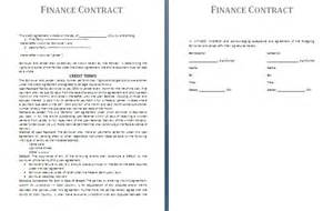Financial Contract Template by Contract Template Free Contract Templates