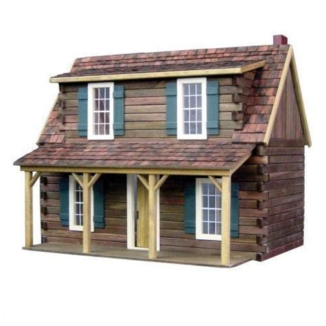 Log Cabin Dollhouse Kit by Real Toys Adirondack Cabin Dollhouse Kit 1 Inch