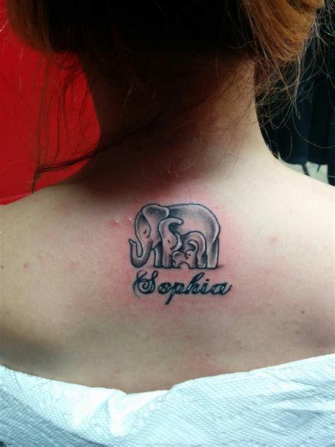 elephant tattoo back of neck 39 elephant family tattoos