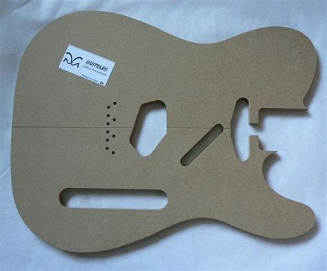 telecaster fender 1952 top template guitelec