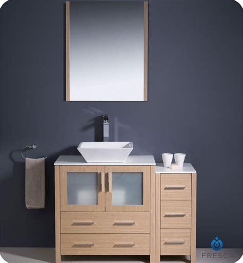 Bathroom Vanity Side Lights Fresca Fvn62 3012lo Vsl Torino 42 Quot Modern Bathroom Vanity With Side Cabinet And Vessel Sink In