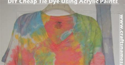 acrylic paint tie dye shirt crafts names and things diy cheap tie dye using