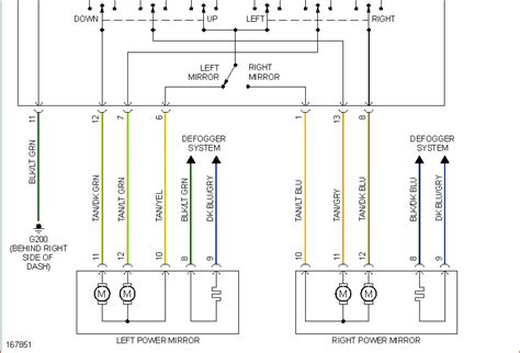 wiring diagram for left power mirror dodge caravan se 2003