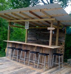 Metal Tiki Bar Simple Corrogated Roof And Cedar Sides Outdoor Bar Our