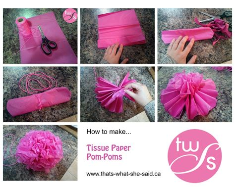 How To Make Large Pom Poms With Tissue Paper - diy pom poms tissue paper balls tissue paper flowers