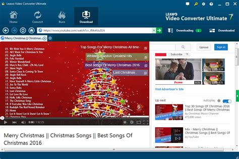 tutorial youtube music download how to download christmas songs from youtube leawo