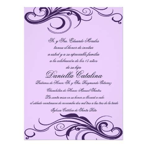 frases para invitaciones de quinceanera p 250 rpura invitaciones de quinceanera 6 5 quot x 8 75
