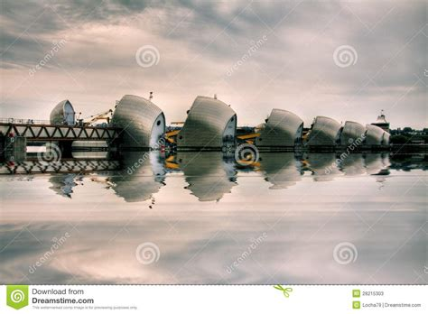 thames barrier animation thames barrier editorial stock photo