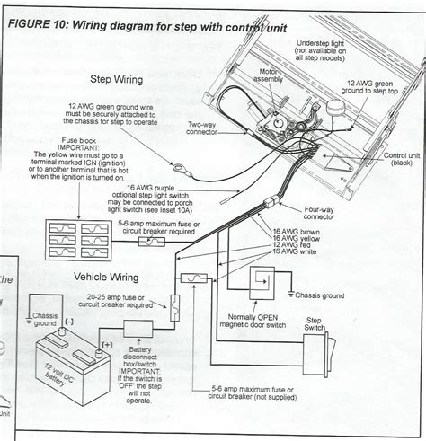 electric step wiring diagram kwikee electric step door