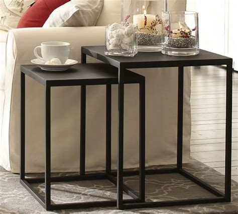 side table set of 2 burke nesting side tables set of 2 pottery barn