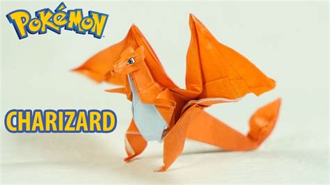 How To Make An Origami Charizard - paper origami charizard tutorial intermediate