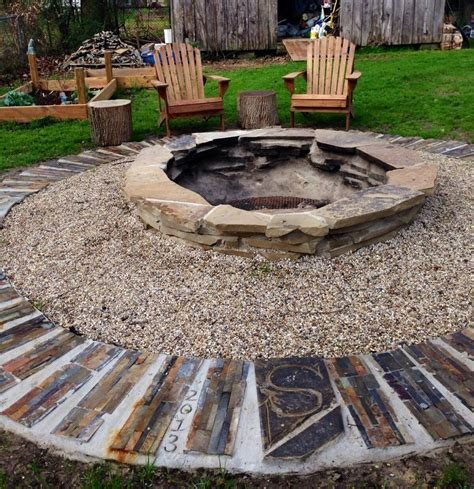 Flagstone Firepit Pit Diy Flagstone For The Home