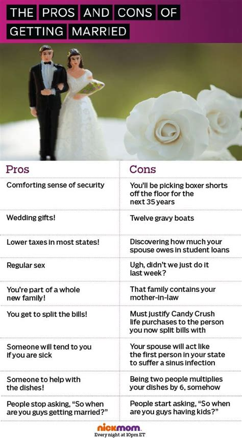 8 Pros And Cons On Getting Married At A Age by Discover And Save Creative Ideas