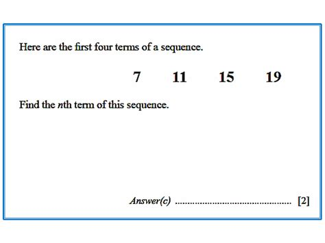 sequence pattern in math arithmetic sequence igcse at mathematics realm