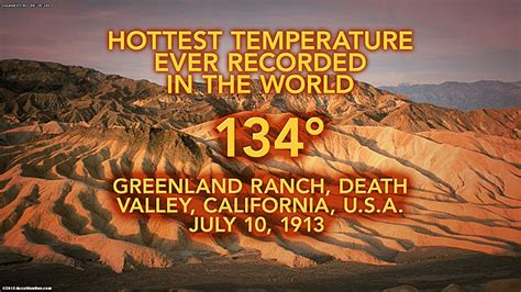 Valley Temperature Record Valley Heat Breaks All Time Us June Record