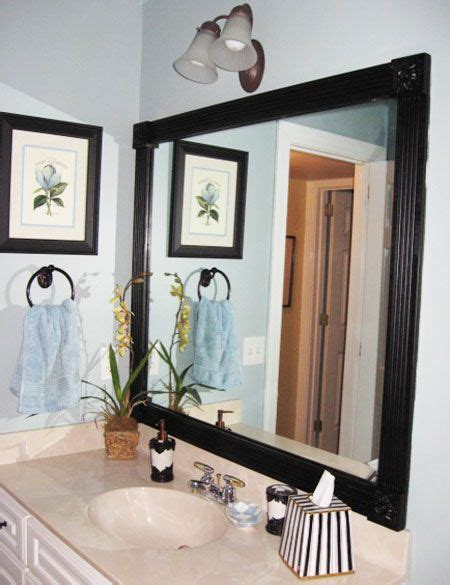 diy decorating ideas give your bathroom an instant update by framing out those plain boring