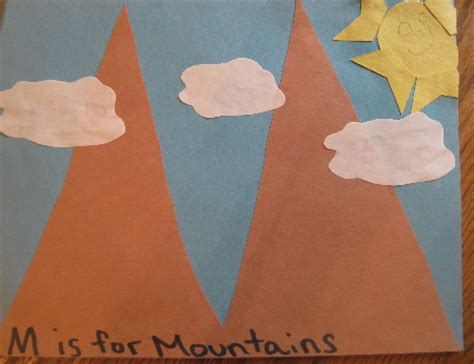 How To Make Mountains Out Of Construction Paper - letter quot mm quot ceres childcare preschool quot