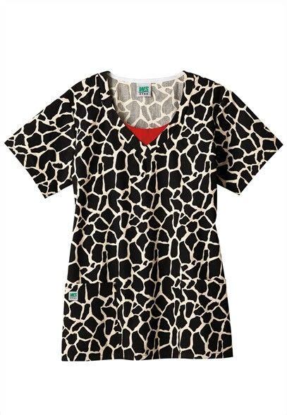cute pattern scrubs fundamentals giraffe print scrub top super cute scrubs
