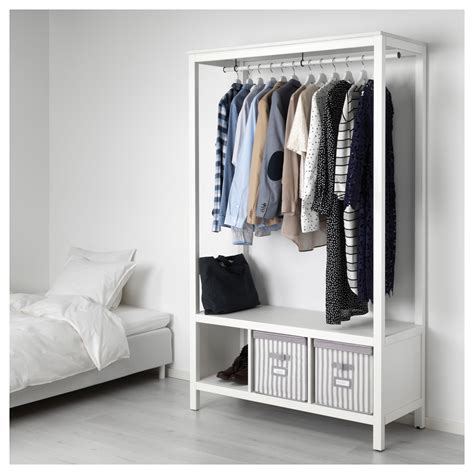 Open Wardrobes by Hemnes Open Wardrobe White Stained 120x197x50 Cm