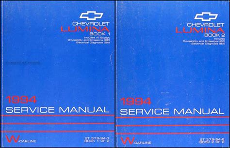 motor auto repair manual 1994 chevrolet lumina regenerative braking 1994 chevrolet lumina car repair shop manual original set