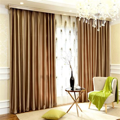 curtain color blackout luxury window curtains in chagne color