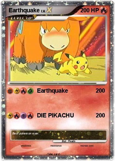 earthquake pokemon pok 233 mon earthquake 18 18 earthquake my pokemon card