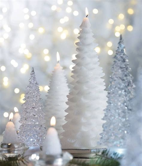 lovely white christmas tree candles white christmas