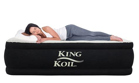 king koil size upgraded luxury raised air mattress best airbed ebay