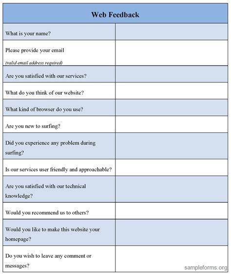 design feedback form template application form template sle vendor application