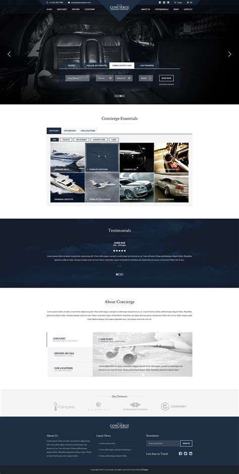 concierge luxury lifestyle services html by uouapps