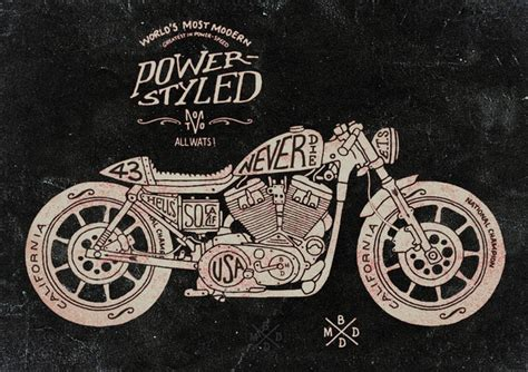 illustrator tutorial motorcycle 20 cool motorcycle culture hand lettering illustrations