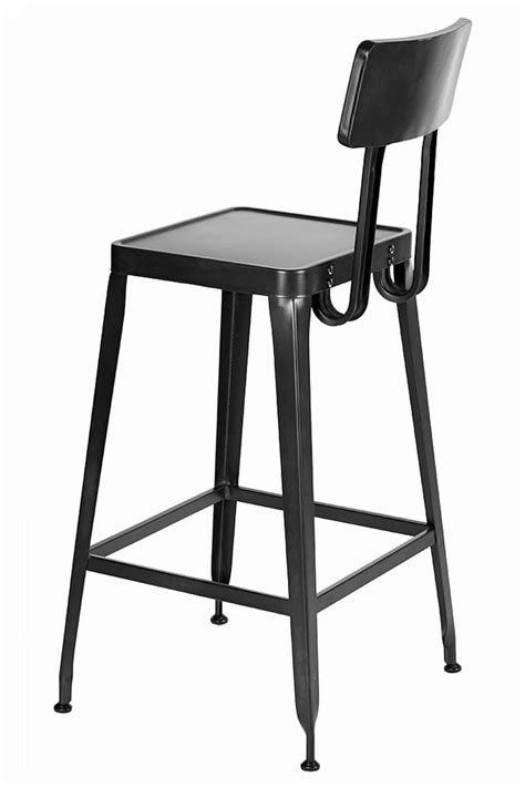 cafe bar stools simon steel cafe bar stool with matte black finish bar restaurant furniture tables chairs