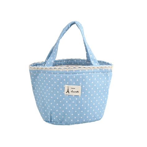 insulated tote bag pattern cute wave point pattern insulated lunch box tote cooler
