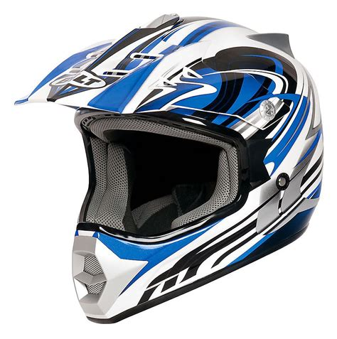 used youth motocross gear bilt redemption motocross helmet youth white blue large ebay