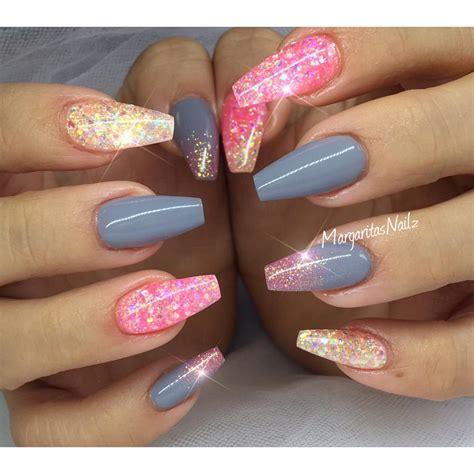glitter nail glitter coffin nails summer nail margaritasnailz