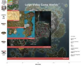 World S Largest Map by The Largest Video Game Worlds A Visual Comparison The