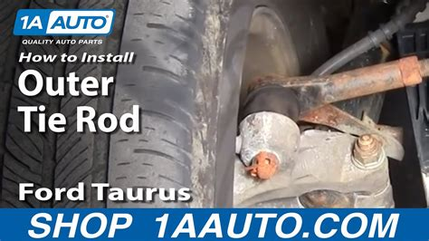 install replace steering outer tie rod  ford