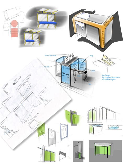 design concept making making of the public transportation shelters for perm