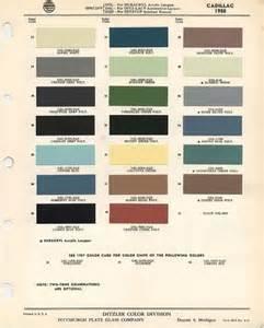 Cadillac Color Chart Girlshopes