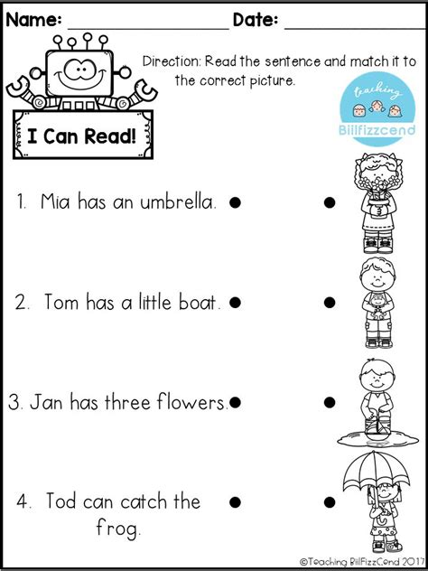 free printable english reading worksheets for kindergarten free reading comprehension activities great for pre k