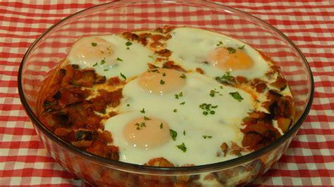 recetas de cocina de huevos huevos al horno con verduras receta f 225 cil
