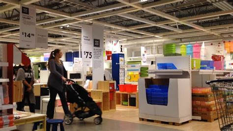 ikea marketplace saint petersburg russia circa jan 2015 interior of