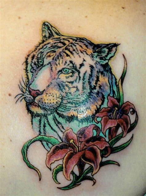 tattoo tiger flower lily tattoo ideas and lily tattoo designs