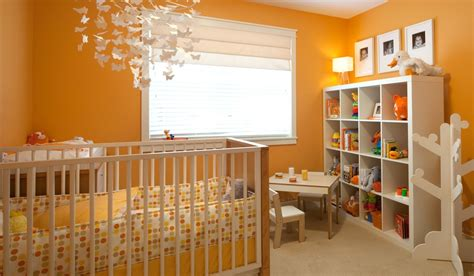 Orange Nursery Interior Design Ideas Orange Nursery Decor